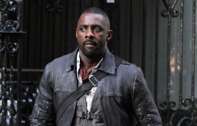 Idris Elba sul set di La Torre Nera