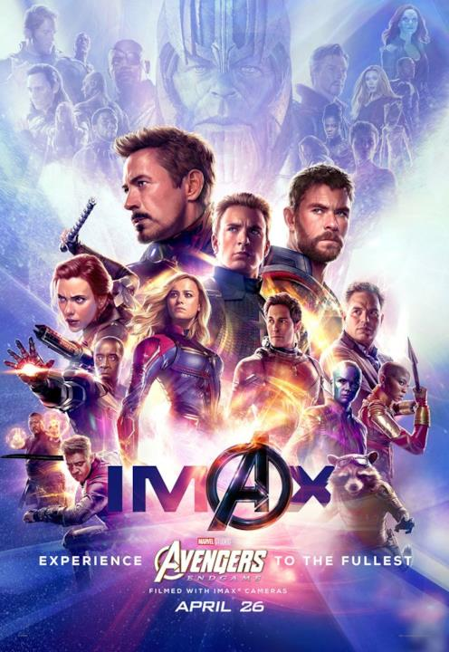 I Vendicatori nel poster IMAX di Endgame