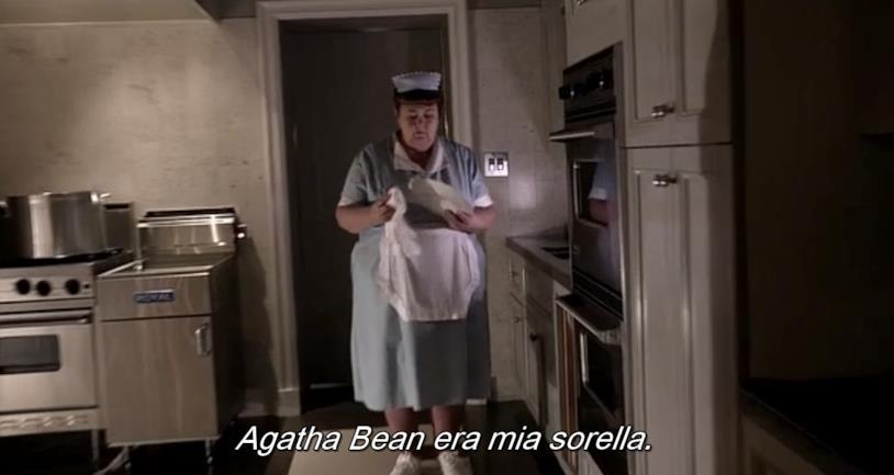 Un'immagine di Agatha Bean prima di morire con la faccia bruciata