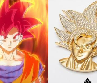 Goku Super Saiyan God e la collana ispirata al personaggio