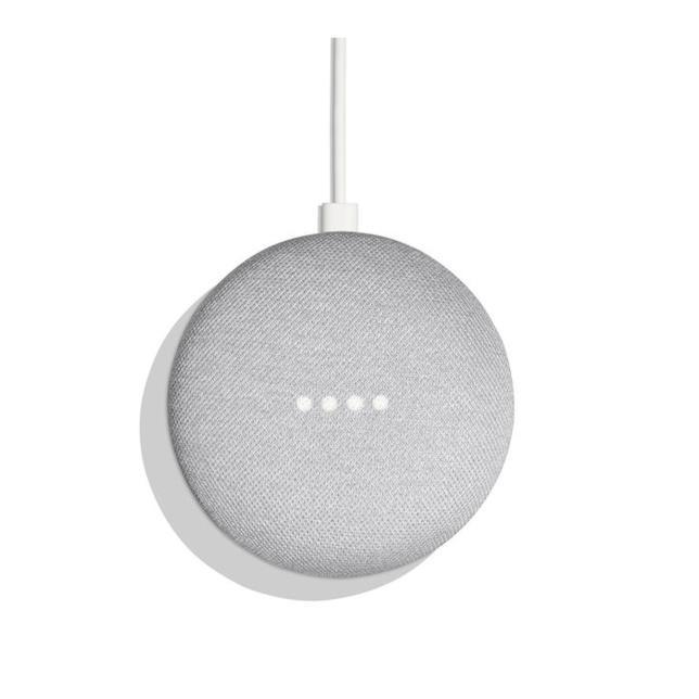 Immagine stampa di Google Home Mini bianco