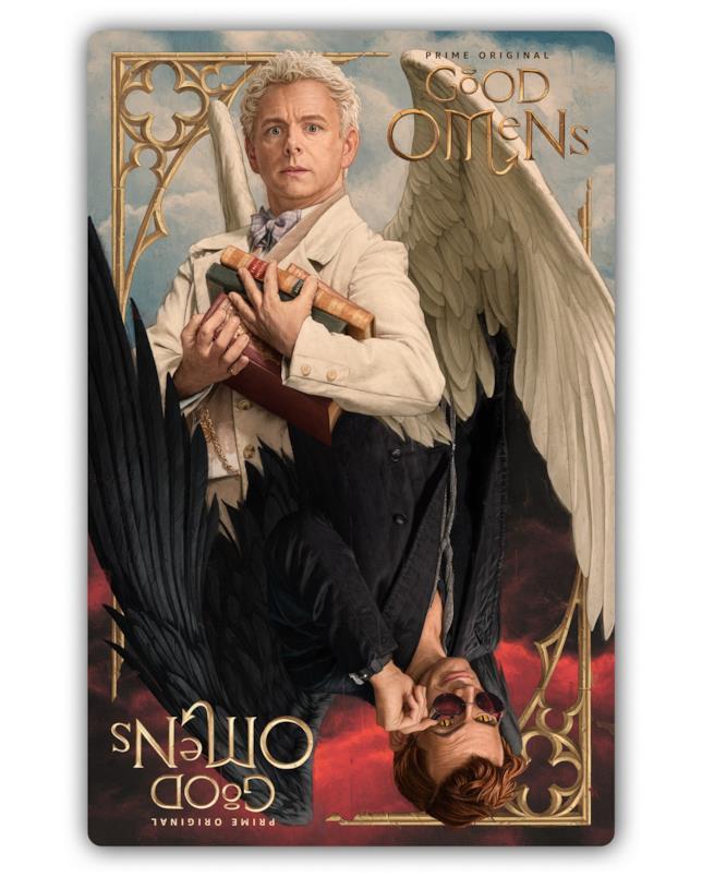 La 'carta dei tarocchi' coi protagonisti di Good Omens