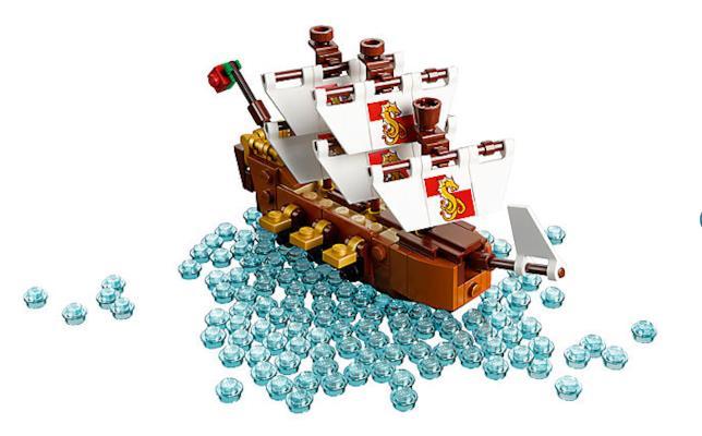 La nave, uno dei tre componenti del set Ship in a bottle 21313 di LEGO