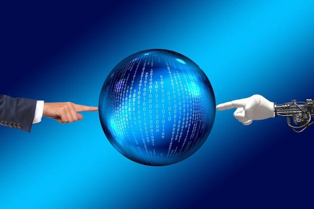 Un'immagine che richiama l'Intelligenza Artificiale