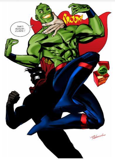 Ramarro e Superman, scontro tra supereroi