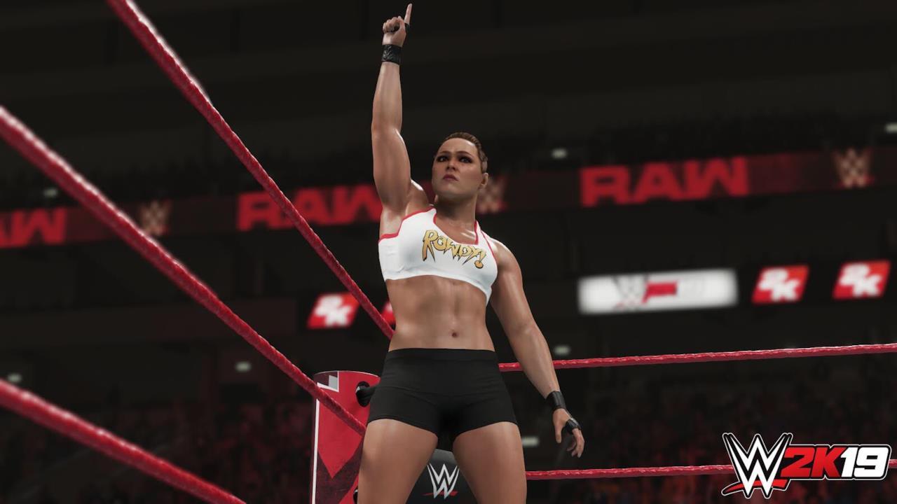 """""""Rowdy"""" Ronda Rousey in WWE 2K19"""
