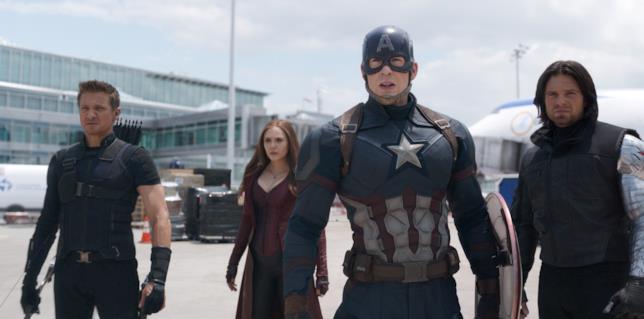 Team Capitan America in Civil War