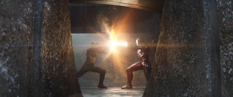 Capitan America e Iron Man in Captain America: Civil War