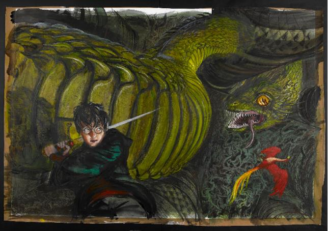 Harry Potter disegnato da Jim Kay per il secondo libro della saga Harry Potter