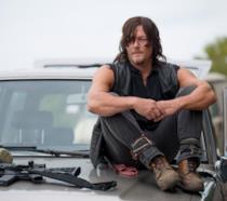 Norman Reedus (Daryl Dixon) sul set di The Walking Dead