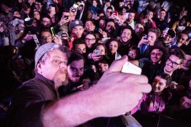 Michael Cudlitz durante il panel al Napoli Comicon