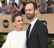 Primo piano di Natalie Portman con Benjamin Millepied