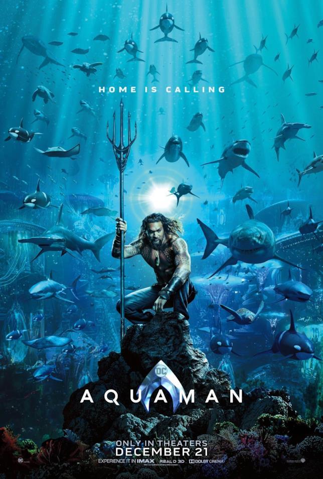 Il poster ufficiale di Aquaman