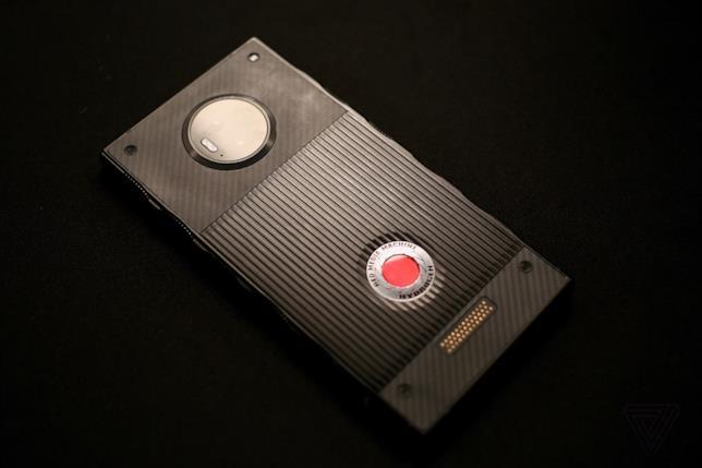 Primo piano dello smartphone Red Hydrogen One prodotto da Red