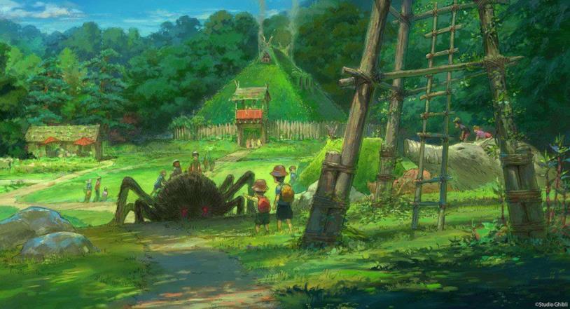Studio Ghibli Theme Park: concept art mostra l'istallazione di ragni giganti