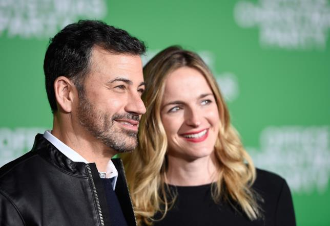 Jimmy Kimmel con la moglie Molly McNearney