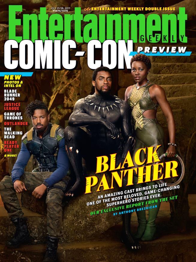 Black Panther è protagonista del numero di EW dedicato al SDCC 2017