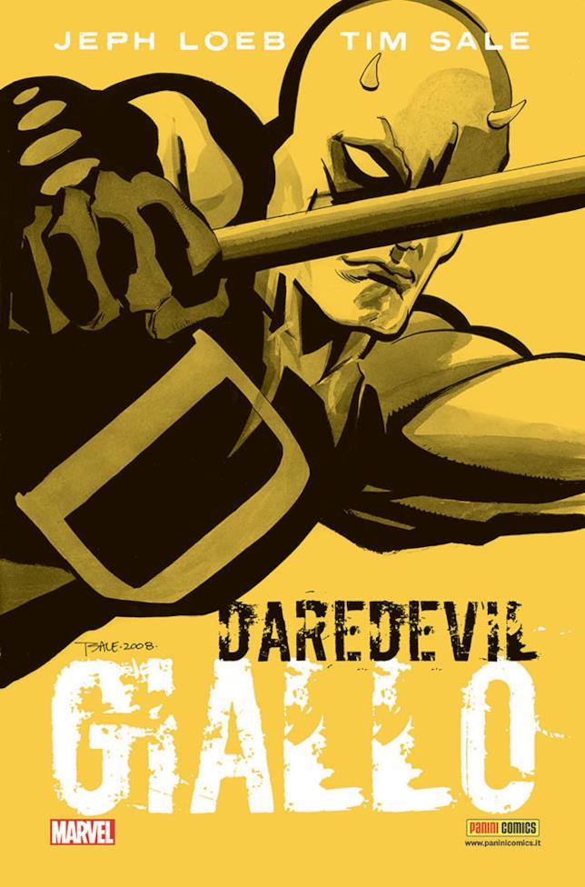 La cover dell'edizione definitiva di Daredevil: Giallo