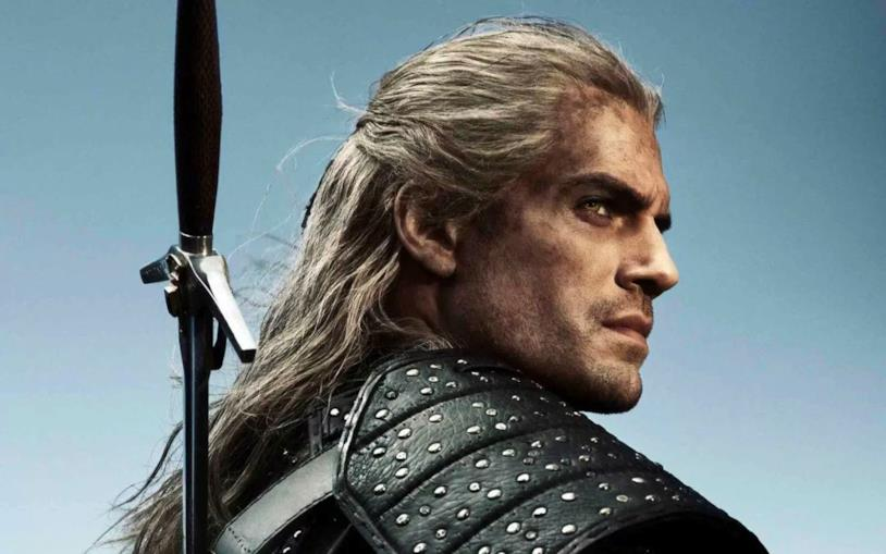 Henry Cavill in un poster di The Witcher
