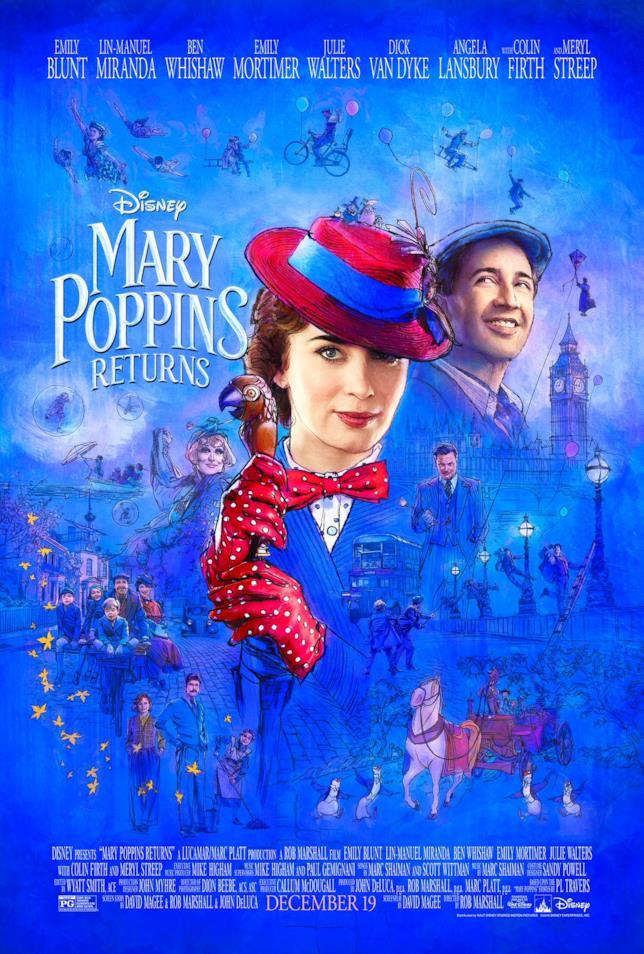 Mary Poppins e i protagonisti del sequel Disney
