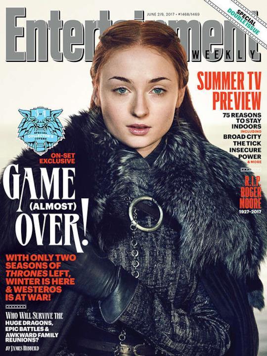 Sansa Stark interpretata da Sophie Turner per la copertina di EW