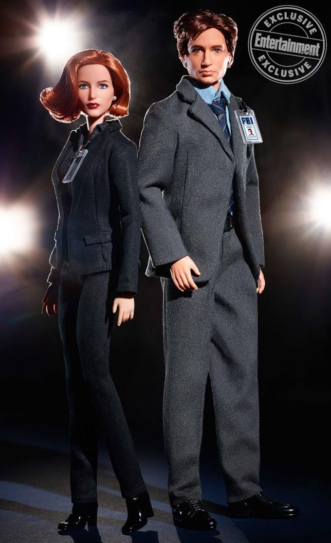 X-Files, le barbie Mattel dei due agenti Mulder e Scully
