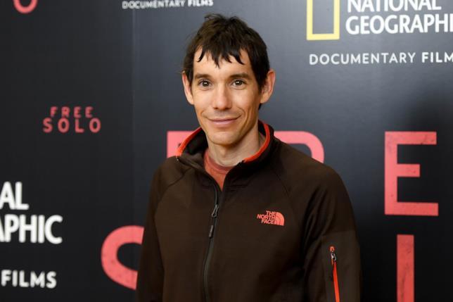 L'arrampicatore e alpinista Alex Honnold