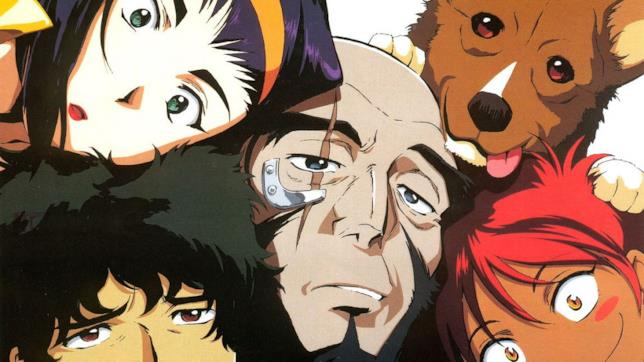 I protagonisti di Cowboy Bebop in una pila umana (e canina)