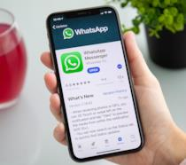 WhatsApp su App Store, in esecuzione su iPhone X