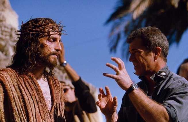 Mel Gibson sul set de La passione di Cristo
