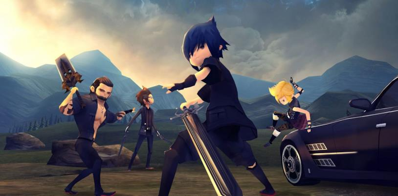 Immagine simbolo dei protagonisti di Final Fantasy XV Pocket Edition