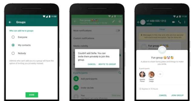 WhatsApp permette di bloccare l'invito ai gruppi