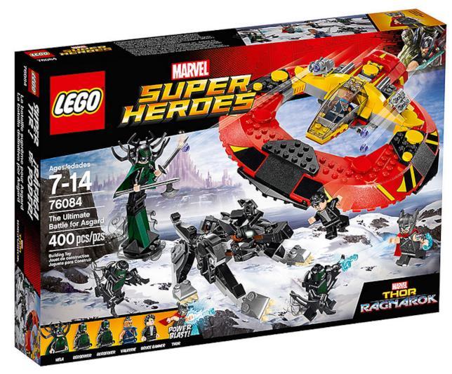 Dettagli del box del set di LEGO La battaglia finale per Asgard