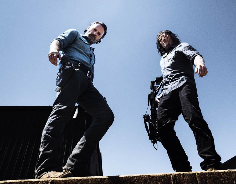 Rick e Dary in un'immagine promozionale di The Walking Dead 8
