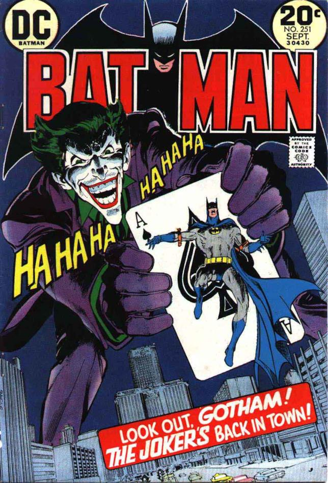 Copertina del #251 di Batman disegnata da Neal Adams