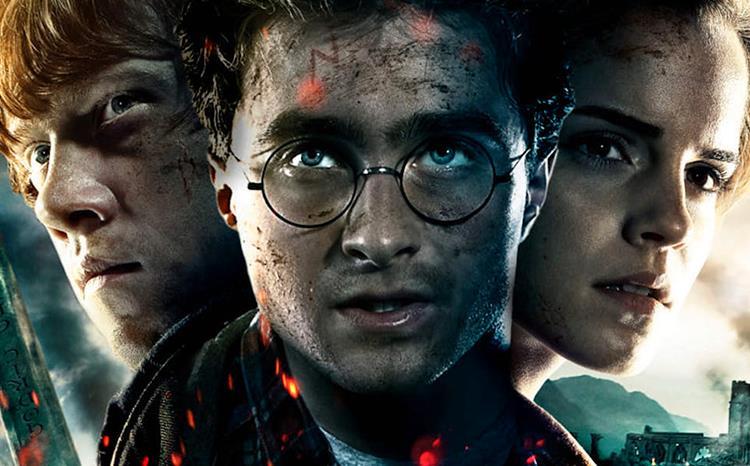 I protagonisti di Harry Potter nel poster de I Doni della Morte