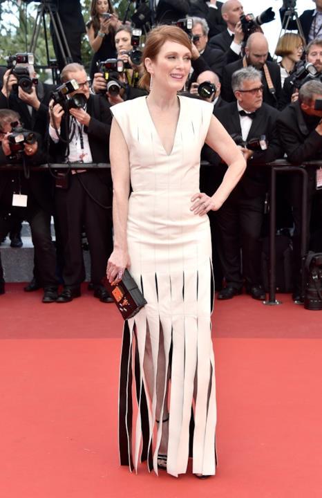 Julianne Moore alla prima di Money Monster a Cannes