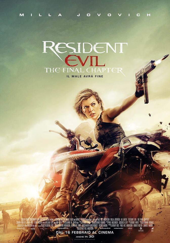 Resident Evil - The Final Chapter: locandina italiana
