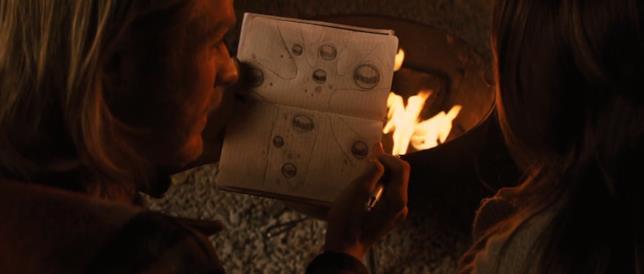 Thor mostra a Jane Foster un disegno dell'albero della vita