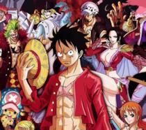 Rufy e altri personaggi di One Piece