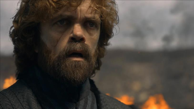 Tyrion è sconvolto sul campo di battaglia di Approdo del Re