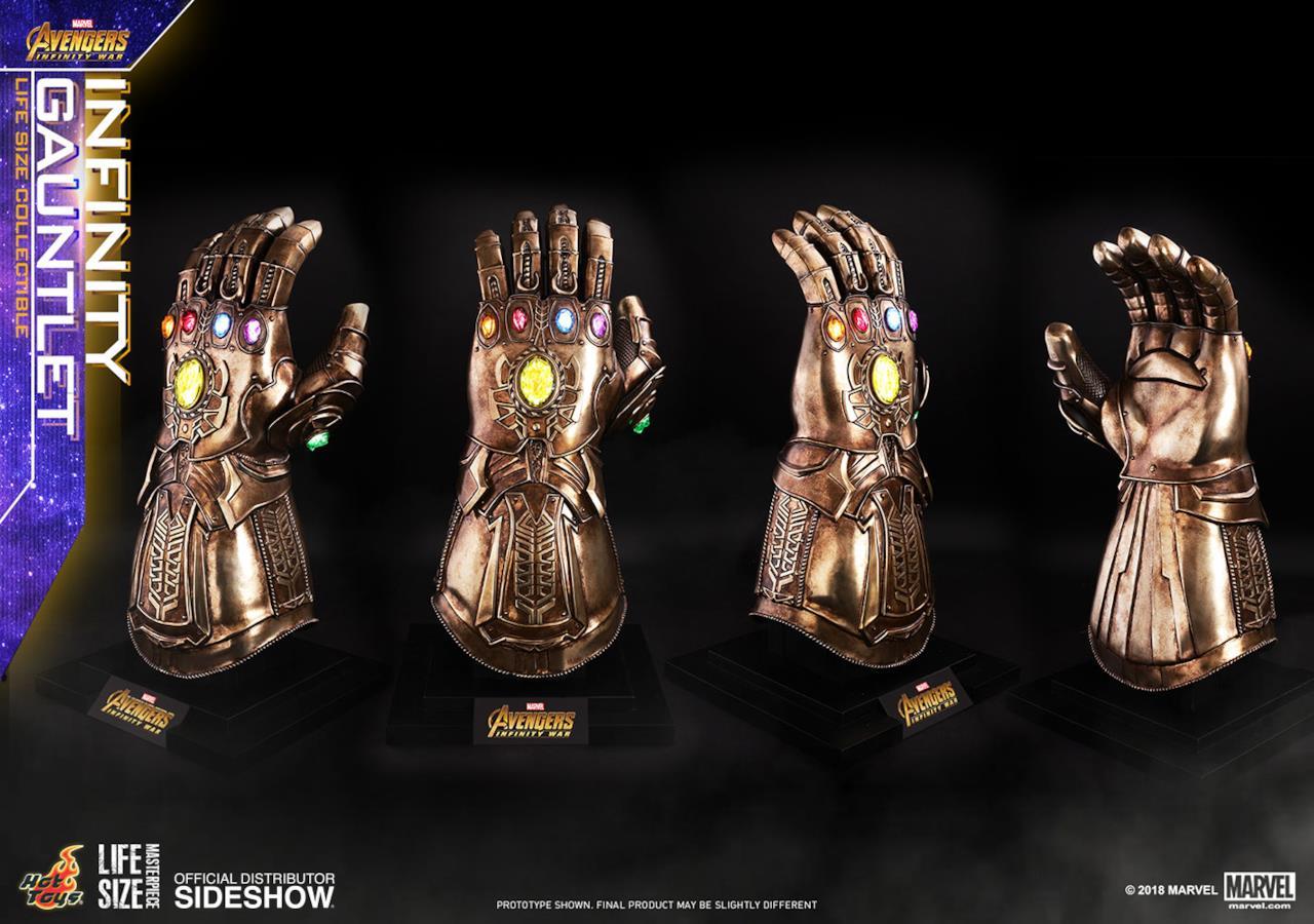 Una replica fedele del Guanto dell'Infinito di Thanos