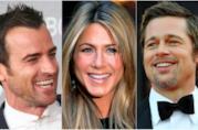 Justin Theroux, Jennifer Aniston, Brad Pitt