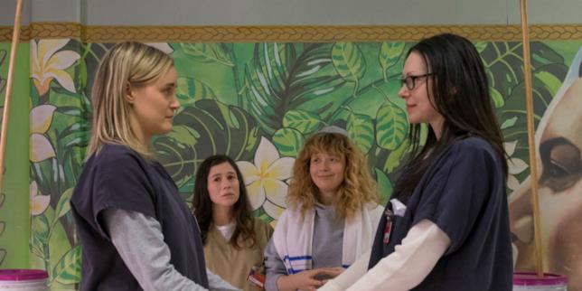 Le protagoniste di Orange is the New Black in una famosa scena della sesta stagione