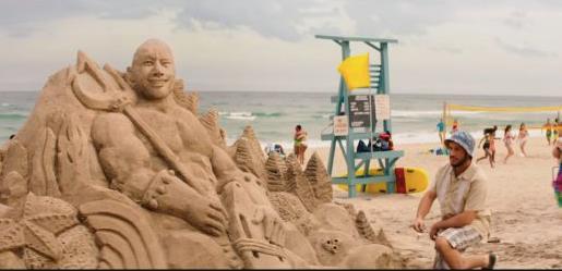 Baywatch, la scultura di sabbia di Mitch