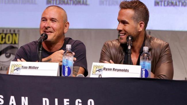 Tim Miller e Ryan Reynolds al Comic Con di San Diego