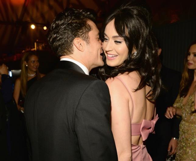 Foto di Katy Perry e Orlando Bloom ai Golden Globes 2016