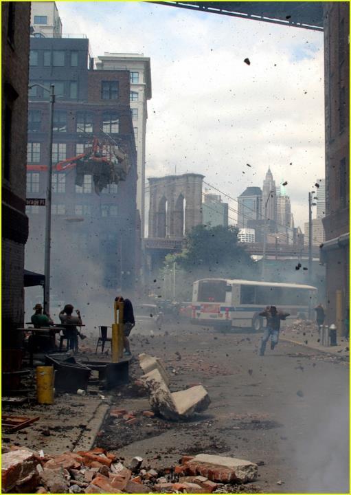 scena di devastazione