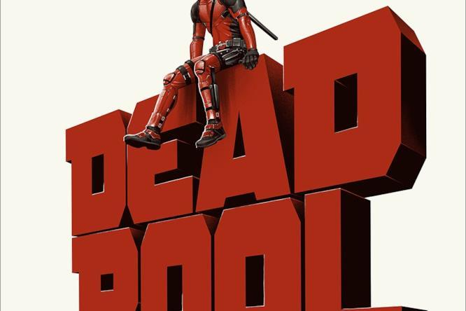 Deadpool seguto sul suo logo