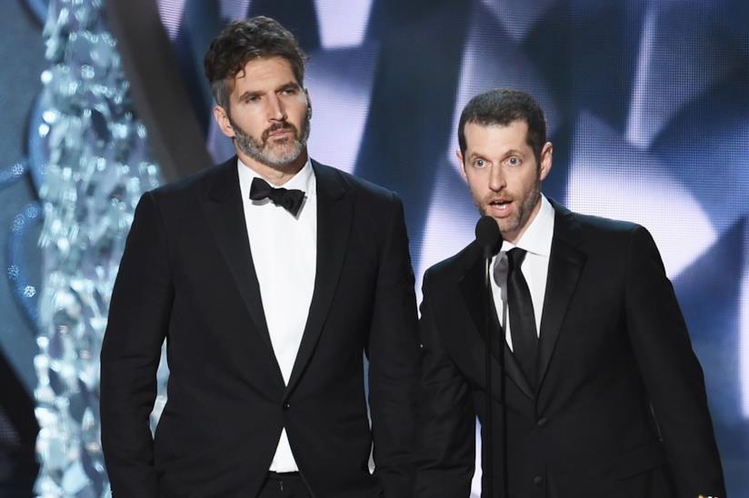 David Benioff e D.B. Weiss in un'immagine dagli Emmy Awards